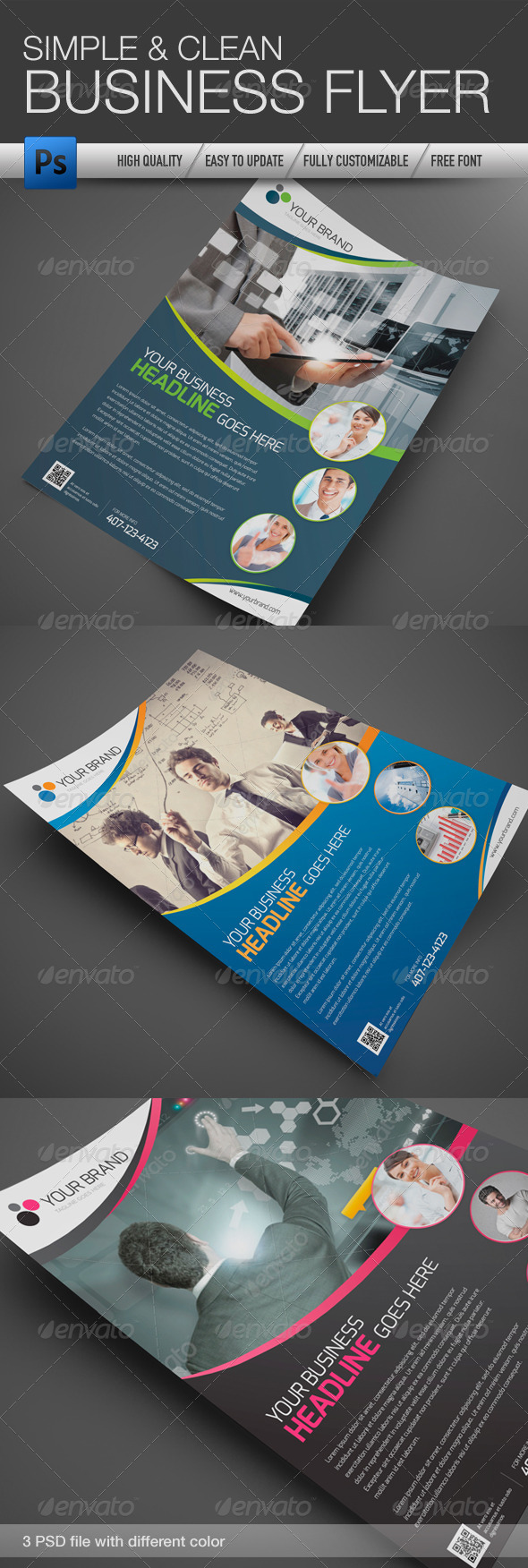 GraphicRiver Professional and Clean Business Flyer 2 4322733