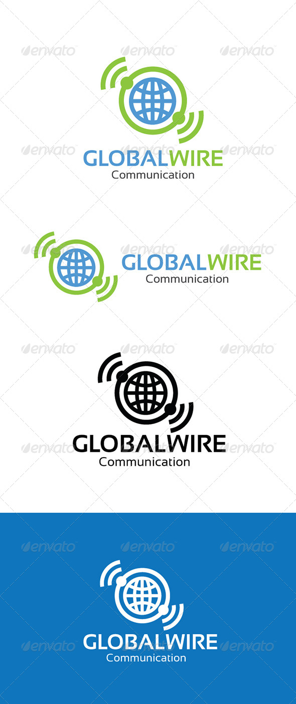 GraphicRiver Gobal Wire Communication Logo 4353853