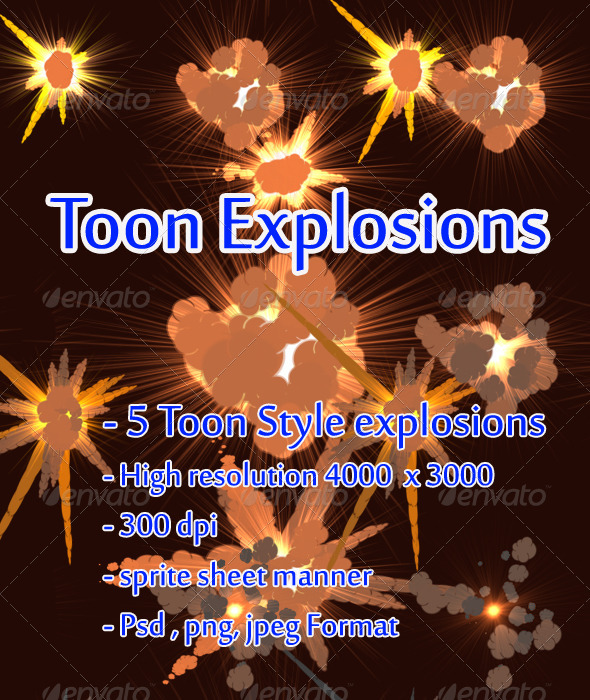 GraphicRiver Toon Explosions 4433414