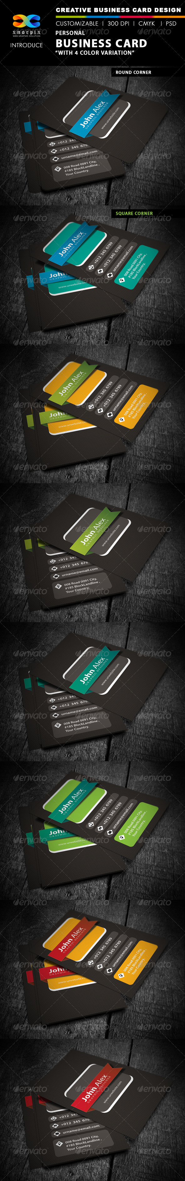 GraphicRiver Personal Business Card 4329668