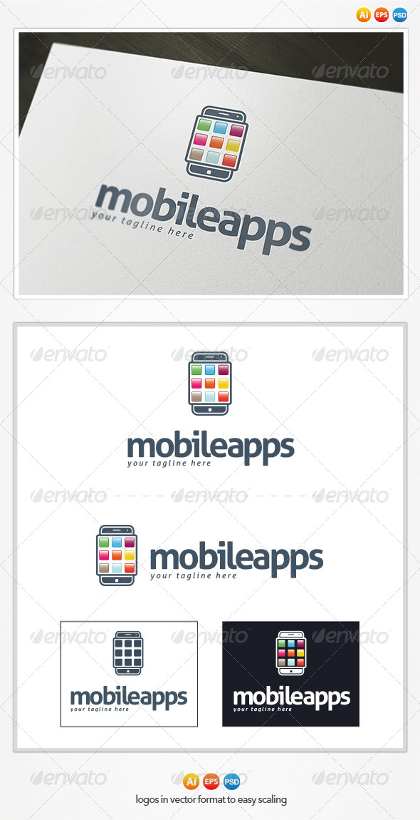 Mobile Apps Logo - Symbols Logo Templates