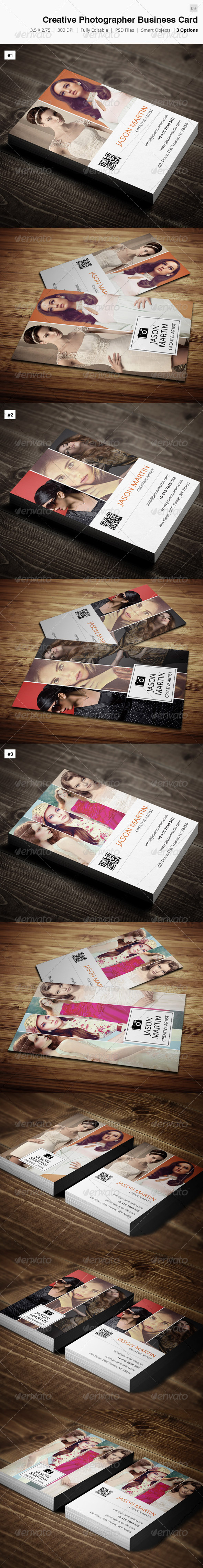 GraphicRiver Creative Photographer Business Card 09 4331360