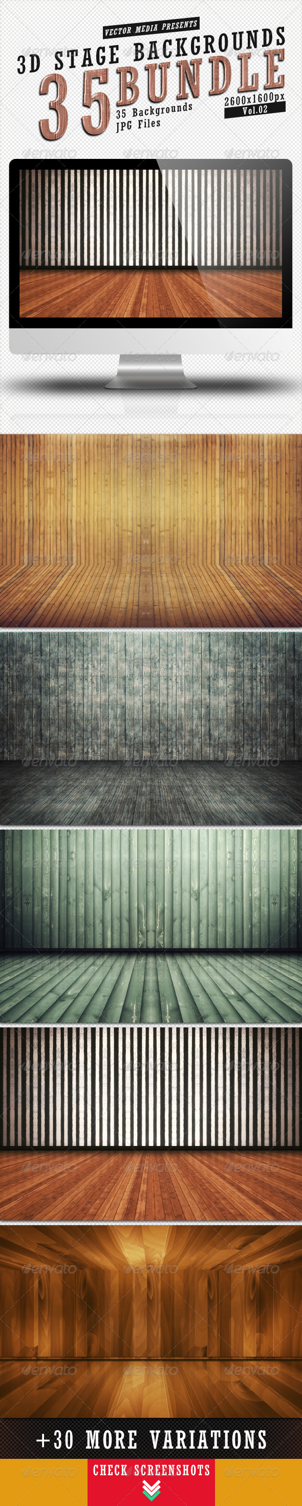 3D Stage Backgrounds - Bundle Vol.2 - 3D Backgrounds