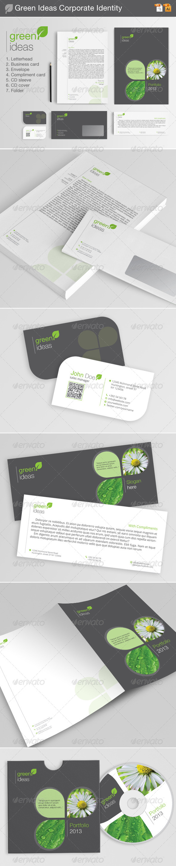 GraphicRiver Green Ideas Corporate Identity 4433562