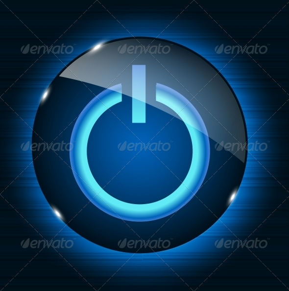 GraphicRiver Glass Power Button 4434194