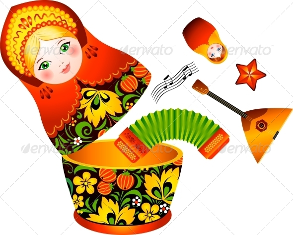 GraphicRiver Russian Tradition Matryoshka Doll 4434355