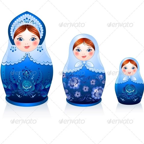 GraphicRiver Russian Tradition Matryoshka Dolls 4434357