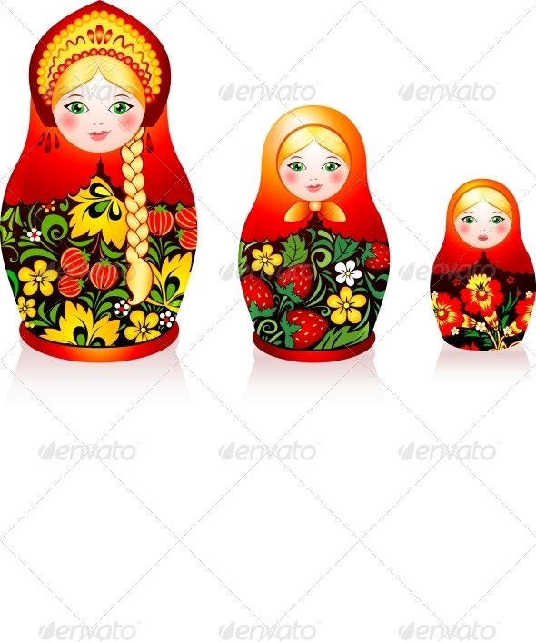GraphicRiver Russian Tradition Matryoshka Dolls 4434359