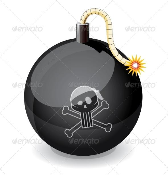 GraphicRiver Pirate Black Glossiness Bomb 4434908