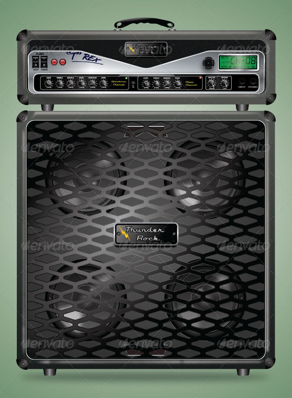 GraphicRiver Highly Detailed Guitar Amplifier 4372417
