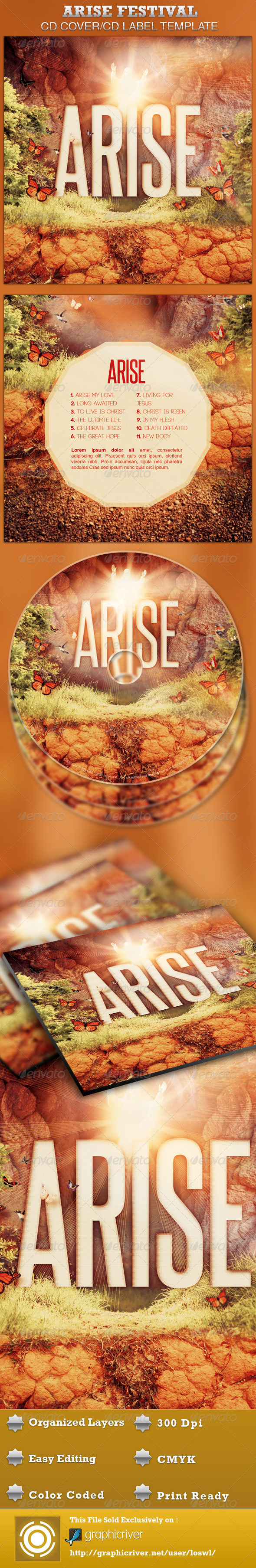 GraphicRiver Arise CD Artwork Template 4332829