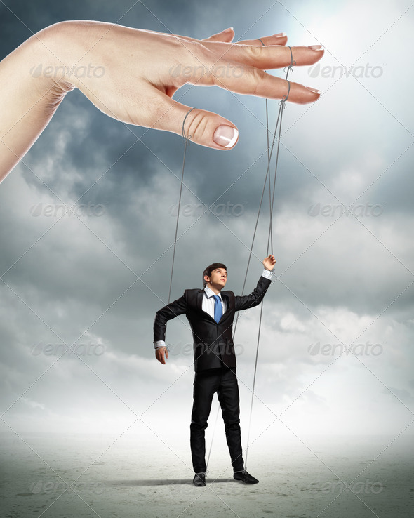 Business man marionette - Stock Photo - Images