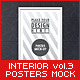 Interior Posters Mock-Up Vol. 3 - GraphicRiver Item for Sale