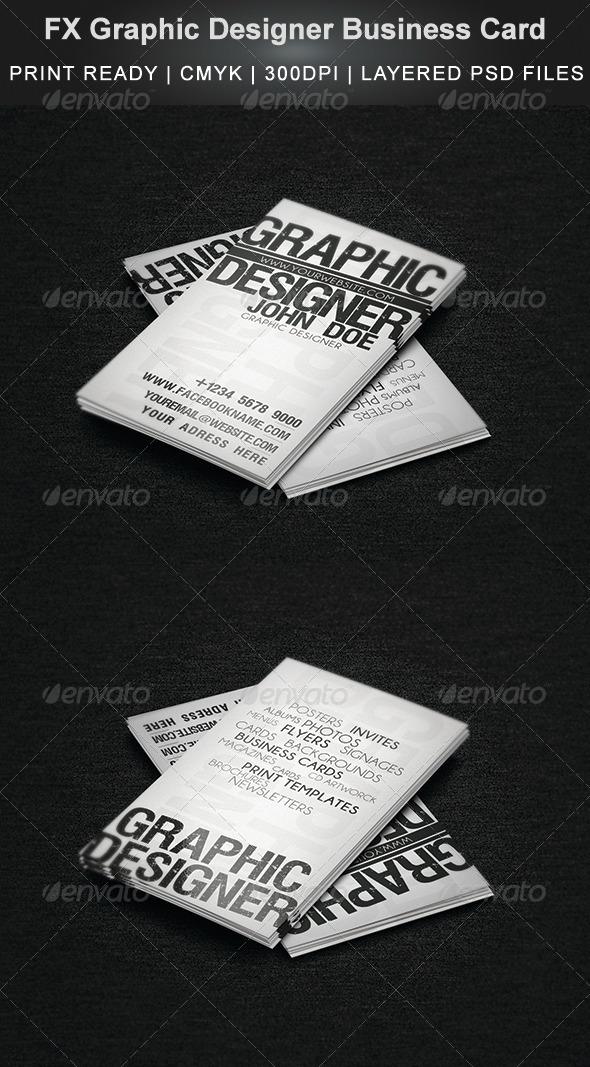 GraphicRiver FX Graphic Designer Business Card 4435265
