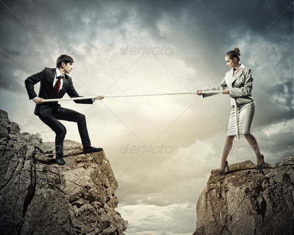 People pull the rope. - Stock Photo - Images