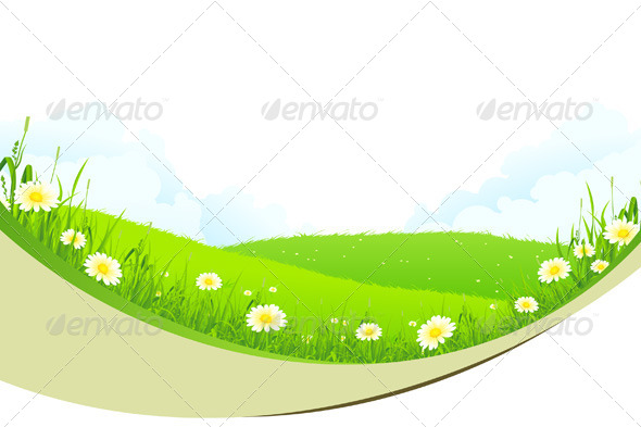 GraphicRiver Green Landscape 4435723