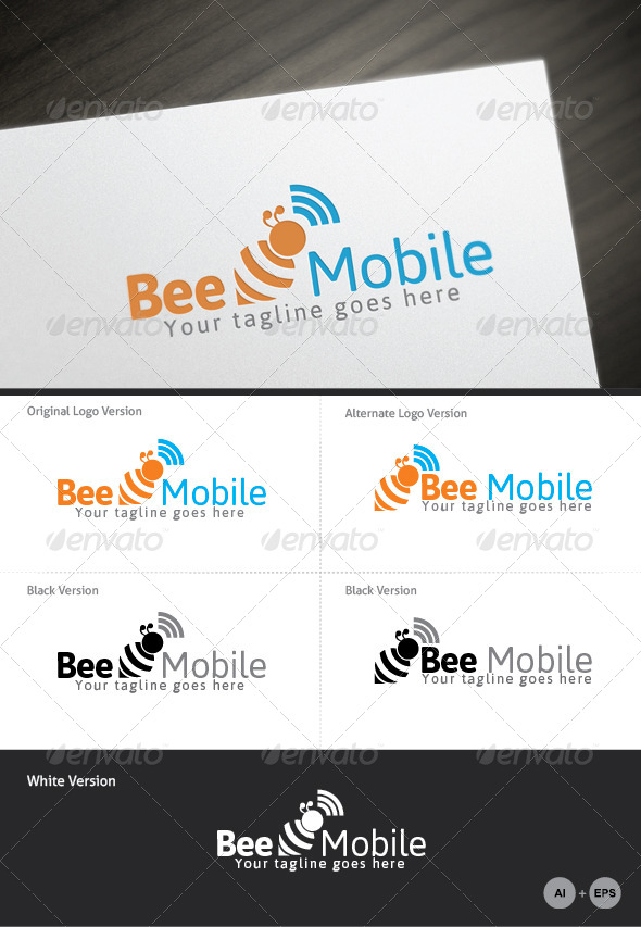 GraphicRiver Bee Mobile Logo Template 4362963