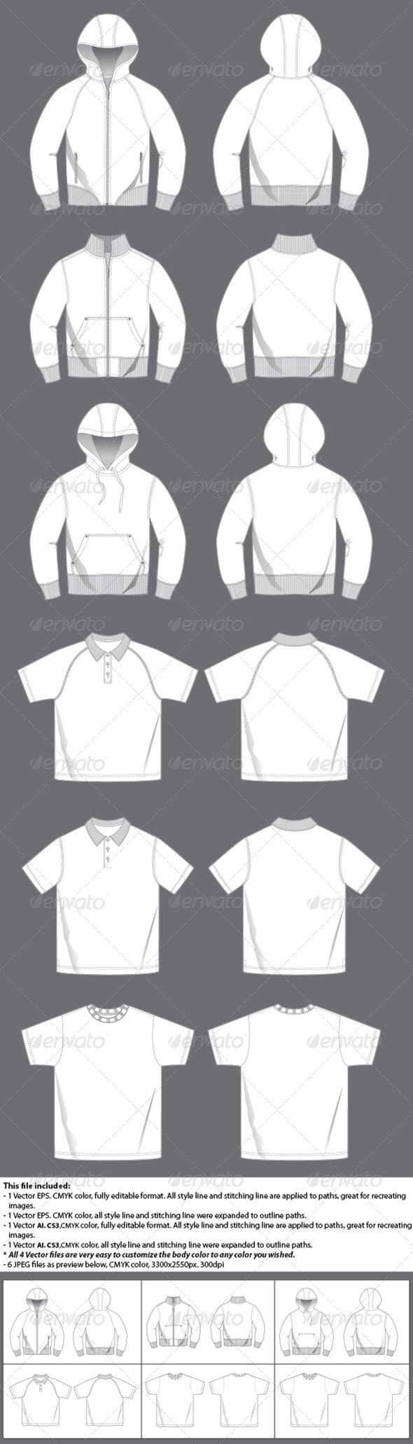 GraphicRiver Men s Casual Top Template 4435820