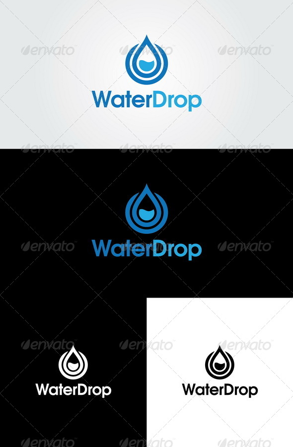 GraphicRiver Water Drop Logo Template 4436362