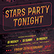 Stars Party Tonight Retro Flyer - GraphicRiver Item for Sale