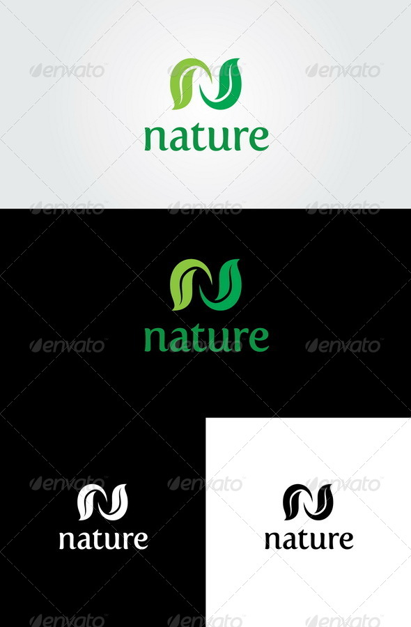GraphicRiver Nature Logo Template 4436914