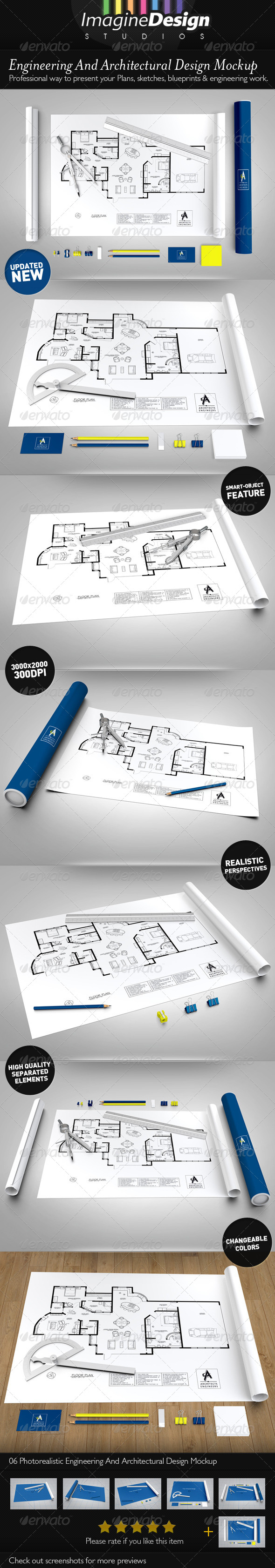 Engineering / Architectural Design Mock-up - Print Product Mock-Ups