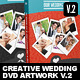 Creative Wedding DVD Covers & Disc Label V.2 - GraphicRiver Item for Sale