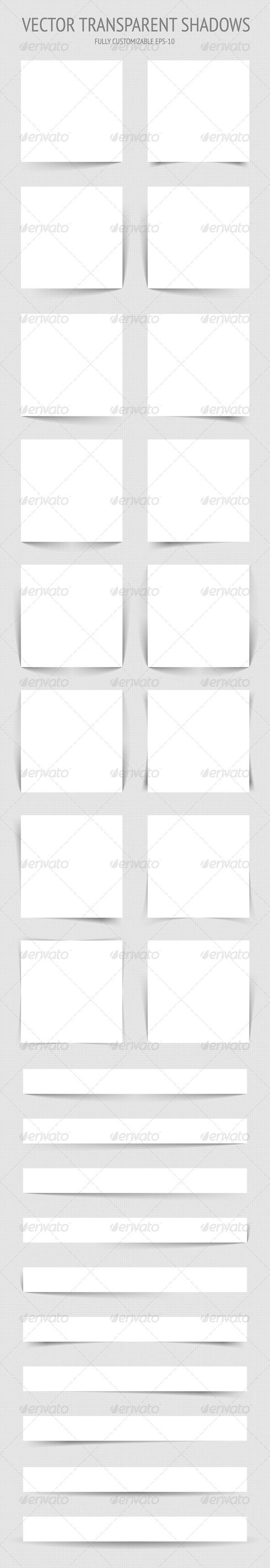 GraphicRiver Vector Transparent Shadows 4437591