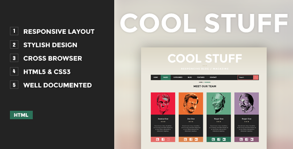 ThemeForest Cool Stuff Responsive Blog Magazine 4433077