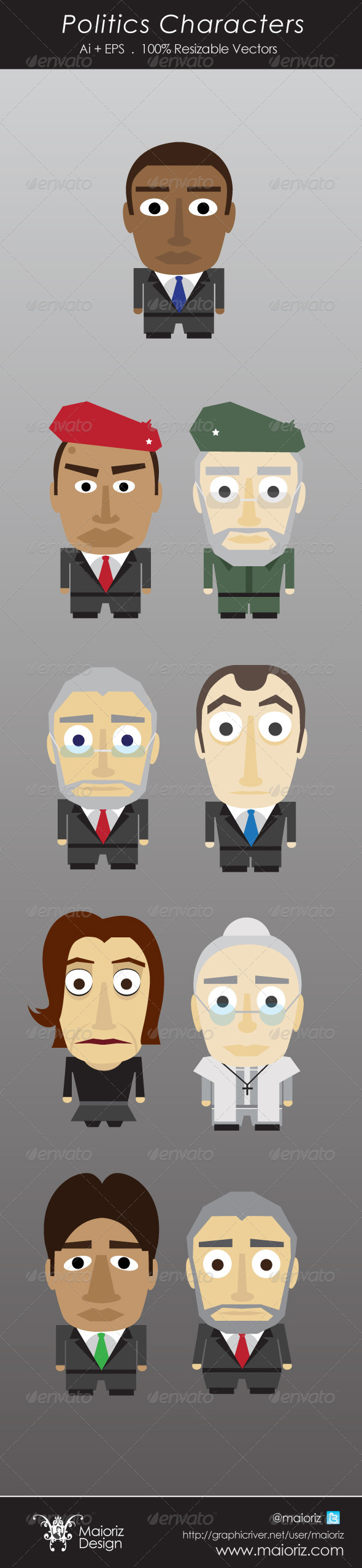 GraphicRiver Politics Vector Characters 4360466