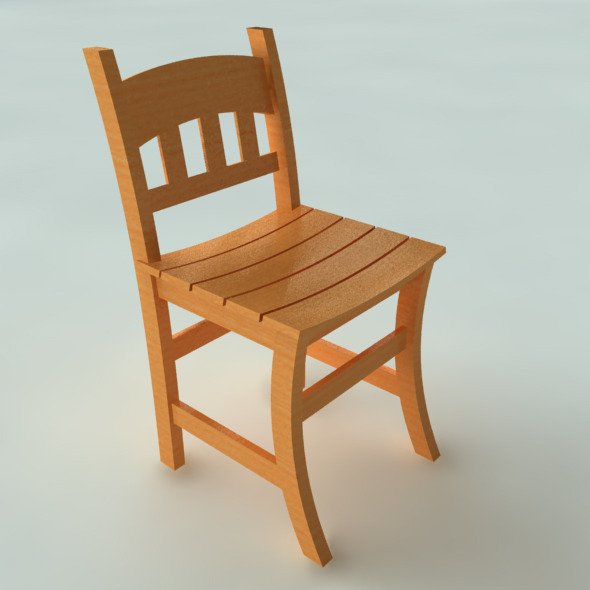 3DOcean Wooden chairs 4438070