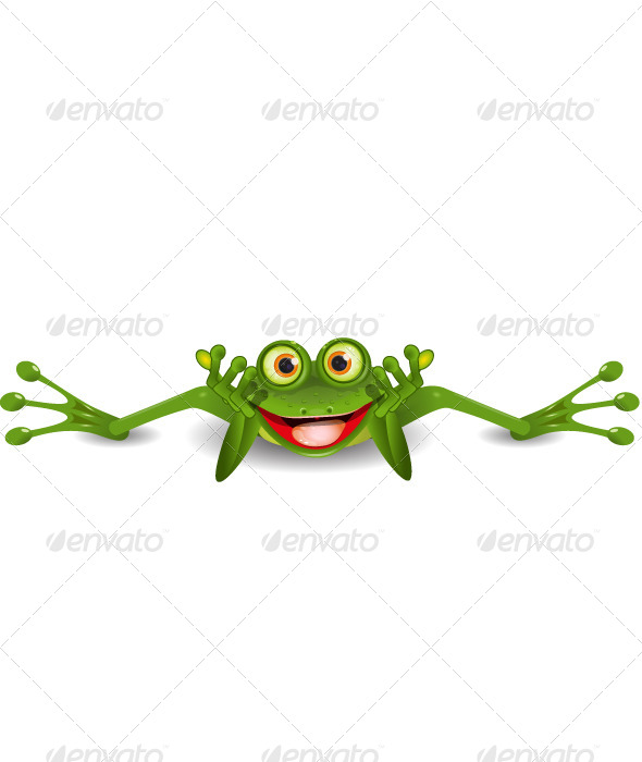 GraphicRiver Funny Frog on his Stomach 4438118