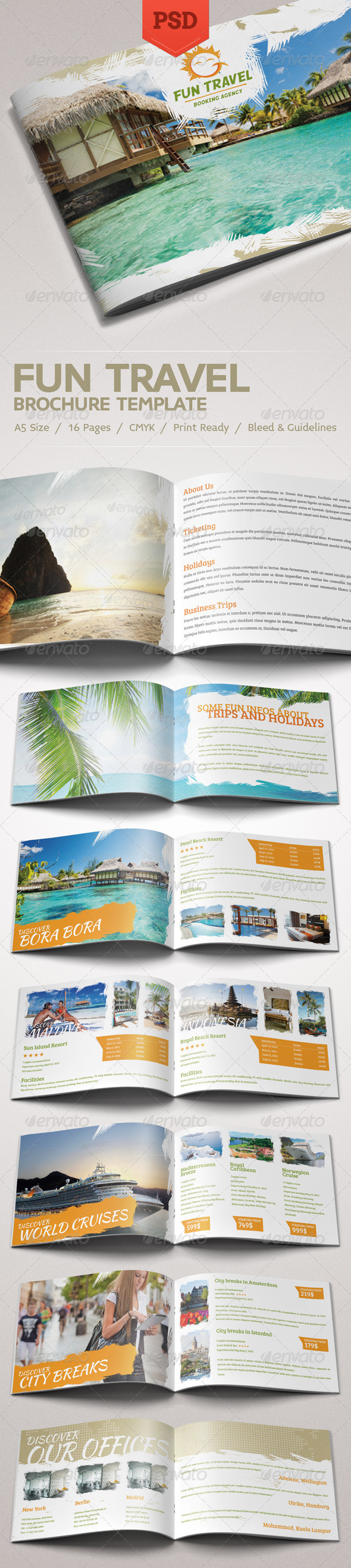 GraphicRiver Fun Travel Brochure 4438679