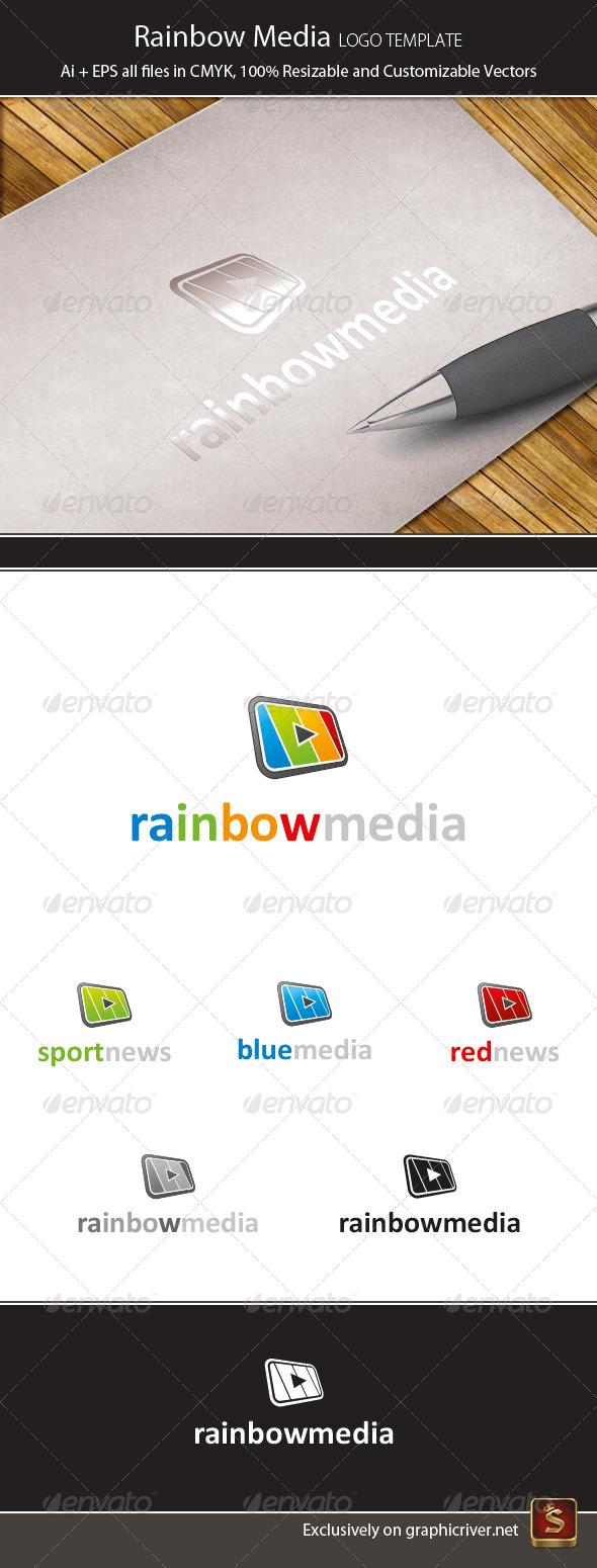 GraphicRiver Rainbow Media Logo Template 4439052