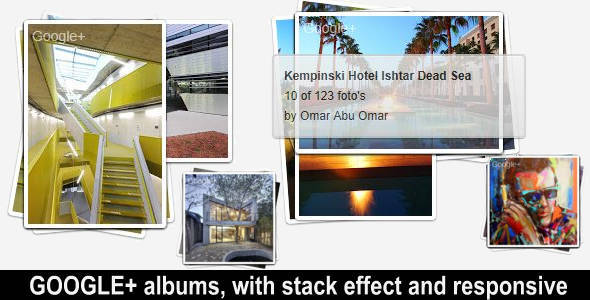 Google+ photo albums php class with stack effect - CodeCanyon Item for Sale