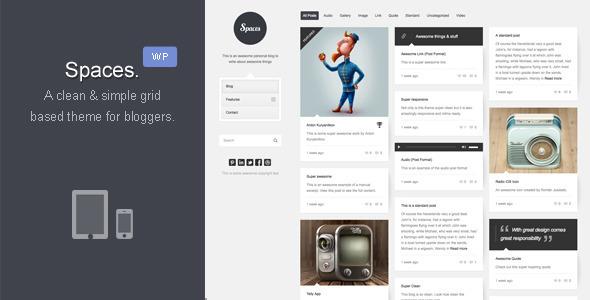 Spaces | Responsive Retina Blog - ThemeForest Item for Sale