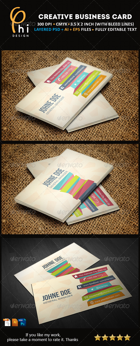 GraphicRiver Creative Business card 4440092