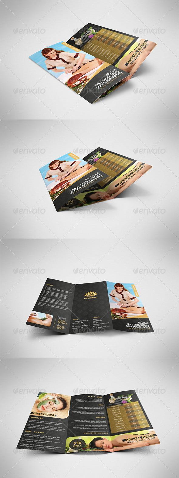 GraphicRiver Luxury Spa Brochure Tri-fold 4335823