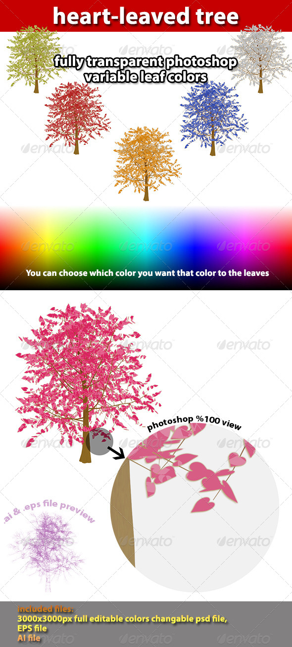 GraphicRiver Heart Leaved Tree 4365568