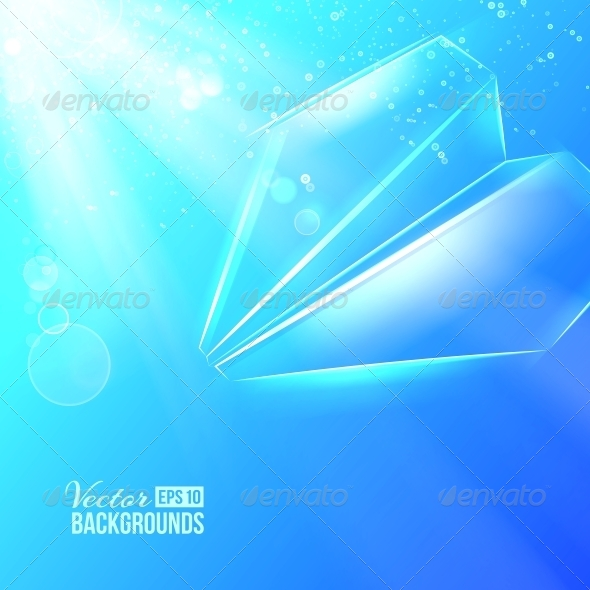 GraphicRiver Paper Airplane Background 4441090
