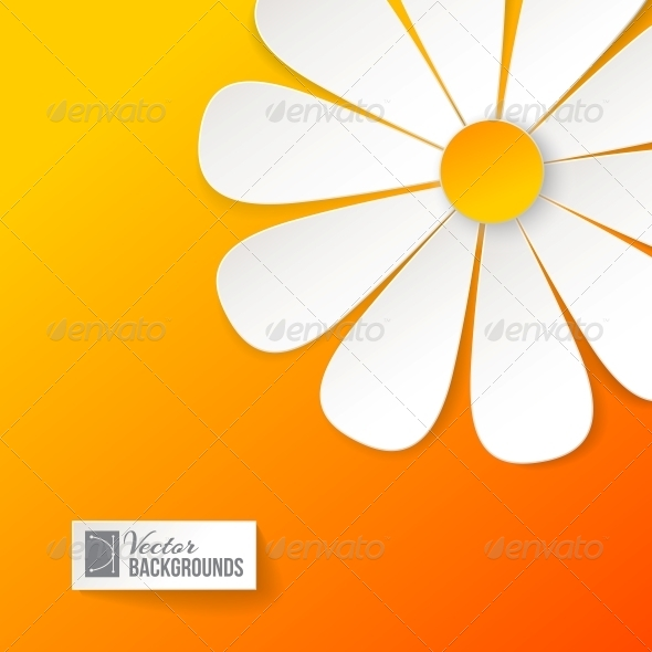 GraphicRiver Card with Paper Flower 4441214