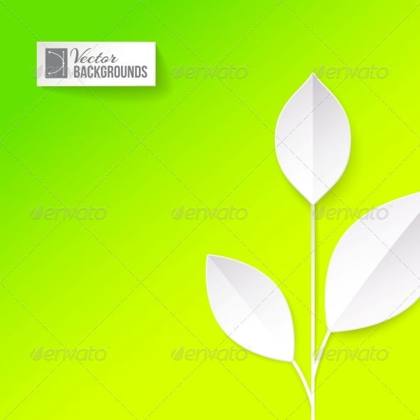 GraphicRiver Eco Origami Leaf 4441218