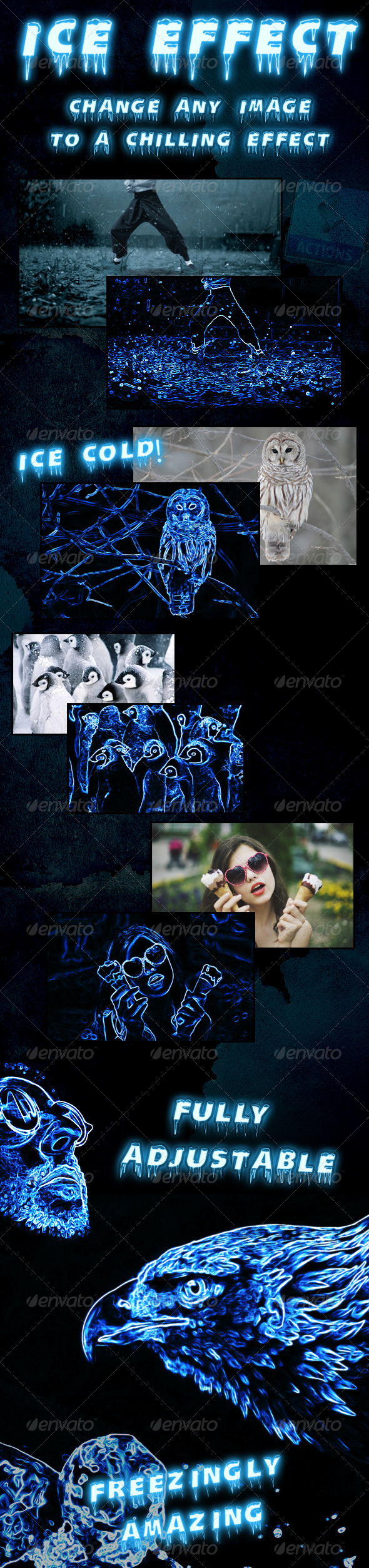 GraphicRiver Ice Effect Photoshop Action 4441363