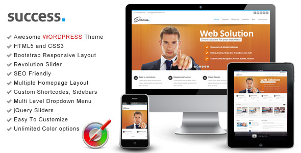 Success - Wordpress Bootstrap Theme