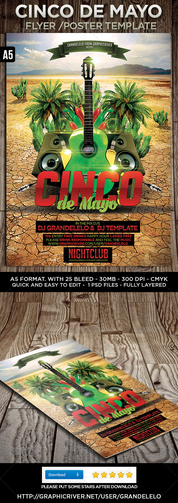 GraphicRiver 5 de Mayo Flyer Poster Template 4441557