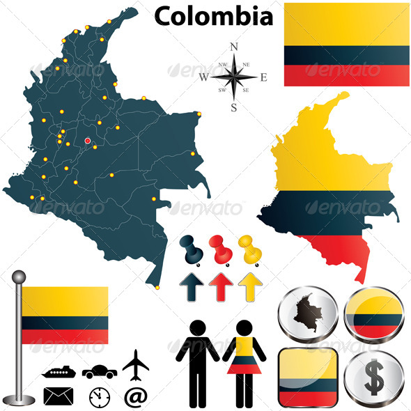 GraphicRiver Colombia Map 4441645