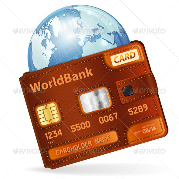 GraphicRiver World Credit Card Concept 4441721
