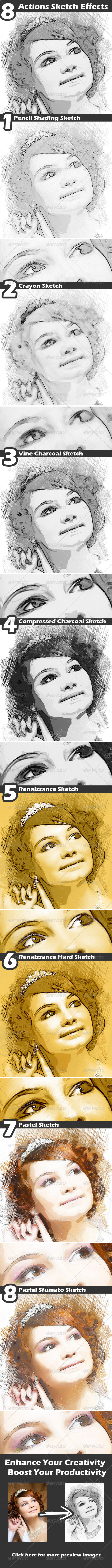 GraphicRiver Actions Sketch Effects 4441739