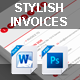 Stylish Invoices PSD & Word Version - GraphicRiver Item for Sale