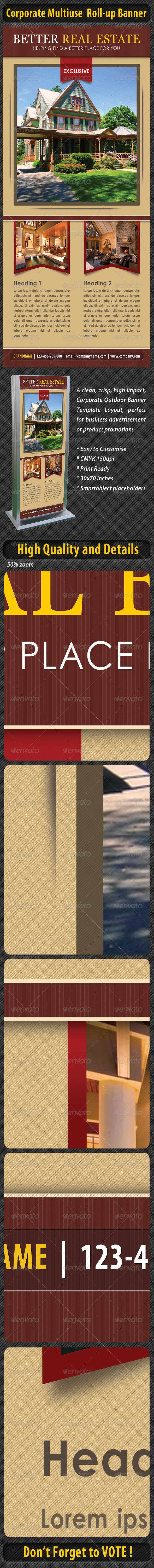 GraphicRiver Corporate Multiuse Roll-up Banner 4441957